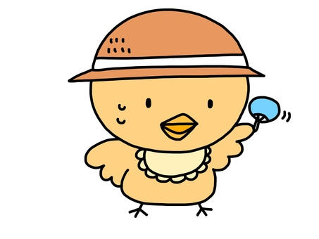 Chick Straw Hat Fan Club