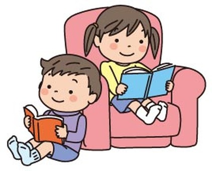 Children's sofa for children reading books