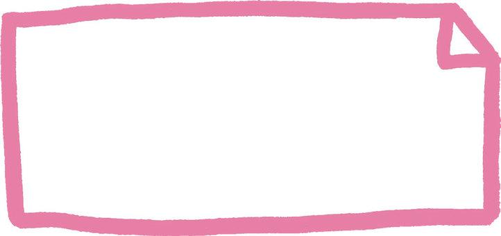 Hand-drawn frame (pink)