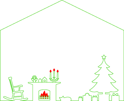 Christmas house type frame 2