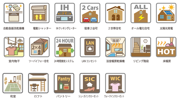Residential Equipment Icon Assortment Color