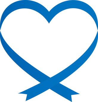 Heart in ribbon <Blue>