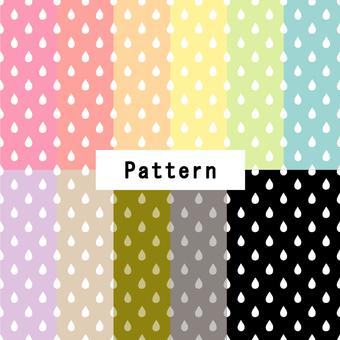 ドロップパターン(手描き風)11色