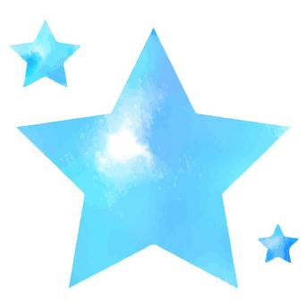 Watercolor star watercolor