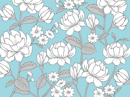 Rose flower pattern texture light blue