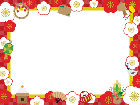 New Year's motif decorative frame