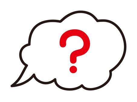 Speech bubble (question mark)