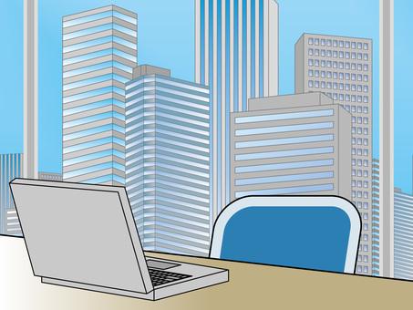 オフィス街(44)高層ビル ノートPC2