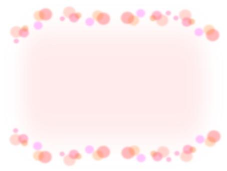 Polka-dot pattern pink frame material