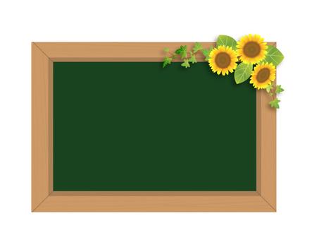 Sunflower and Blackboard 02
