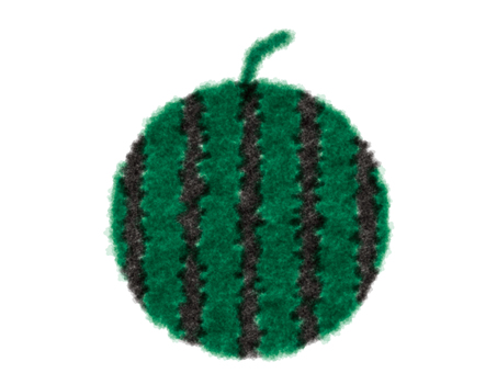 Watermelon watercolor style