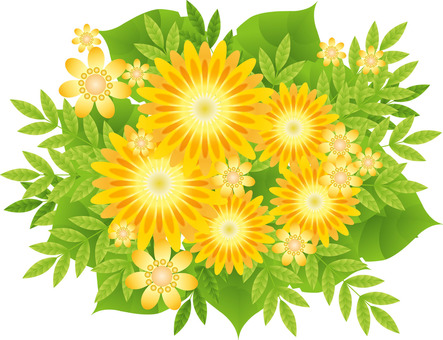 Yellow flowers and cute little flowers 4
