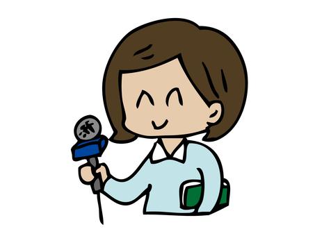 Interviewer woman