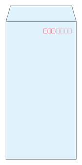 Long 3 envelope light blue