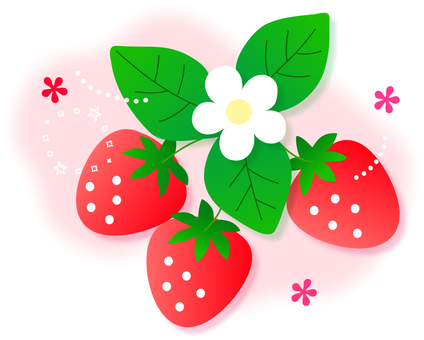 Illustration of strawberries