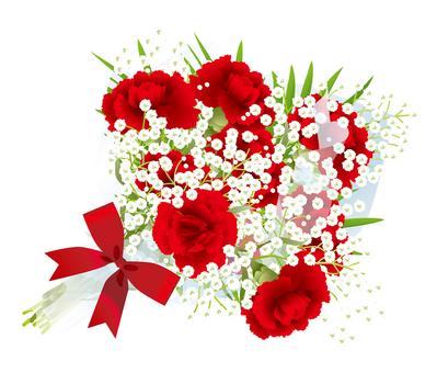 카네이션 먹풀 꽃다발 9