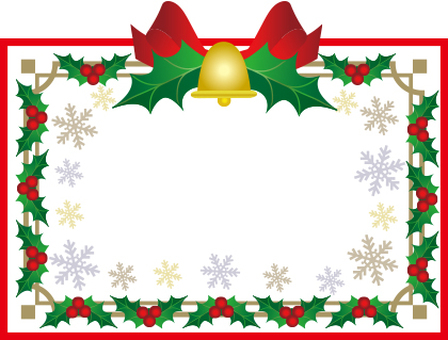 Christmas ribbon frame white