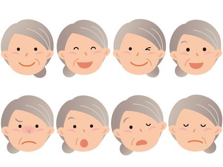 60718. Senior woman, face 1
