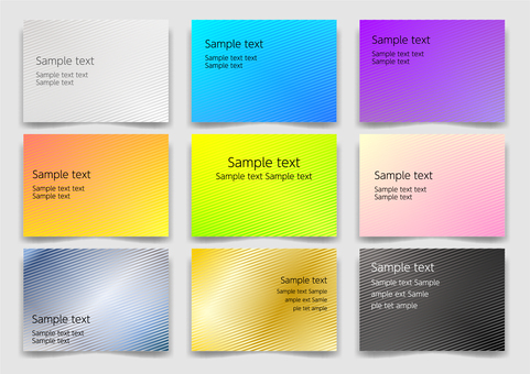 Colorful diagonal simple abstract background material set