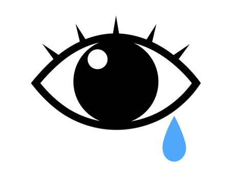눈 안과 눈물 건조 우는