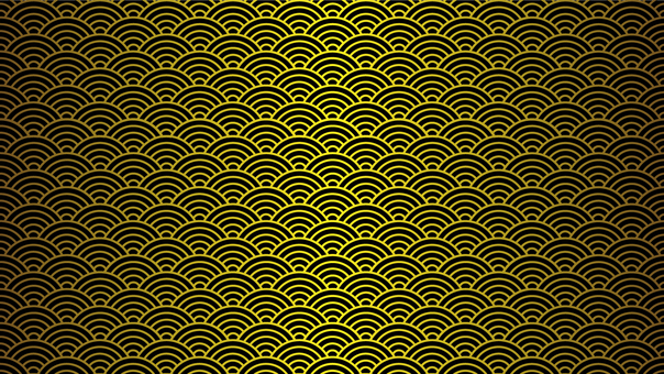 Qinghai wave 16: 9 gold leaf style to black ground