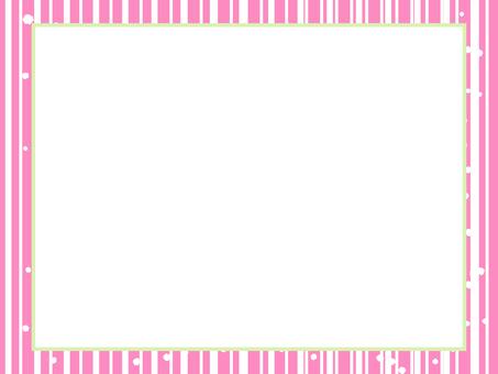 핑크 랜덤 줄무늬 프레임