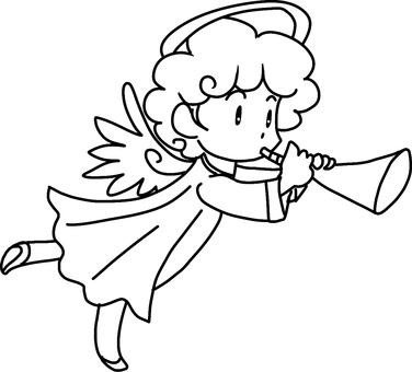 Trump Angel (left) Line drawing