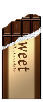 Broken plate chocolate (vertical) _ with silver paper · wrapping paper