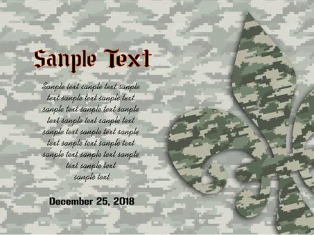 Military card 04