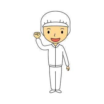 여성 전신 작업복 흰색 15