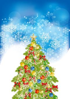 Christmas tree & snow 23