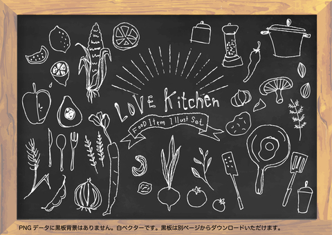 Cafe and kitchen chalk art