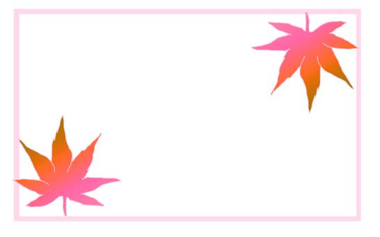 Notepad / Maple (autumn leaves)