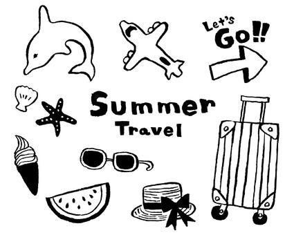 Summer Travel Set (Line Drawing)