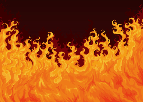Flame background vector