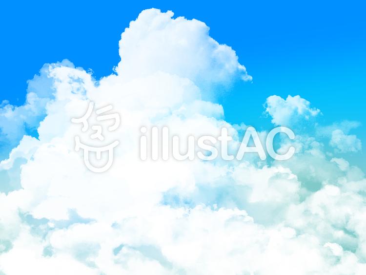【フリーイラスト素材】雲と大空・6