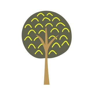 Scandinavian trees (brown, round)