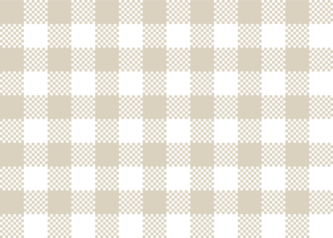 Gingham check beige