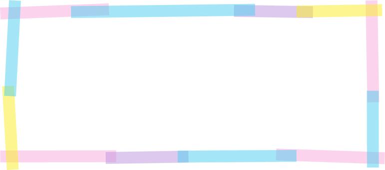 Tape frame horizontally long