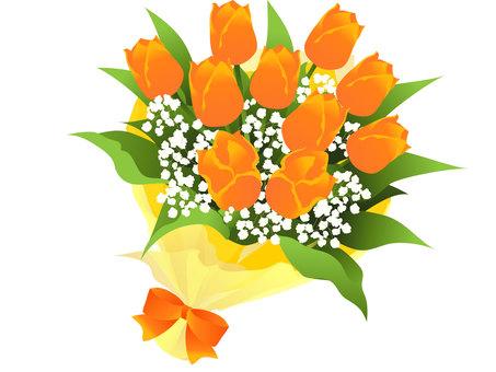 Tulip bouquet frame