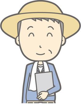 Middle-aged Farmer Man - File Nico Nico - Bust