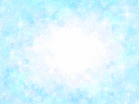 Sparkling soap bubble background frame (blue)