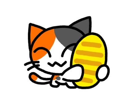 Cat in a small tortoiseshell cat