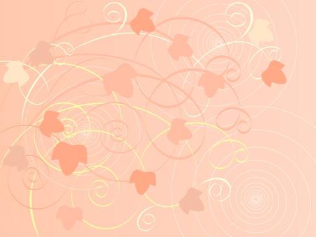 粉紅色的常春藤圖案