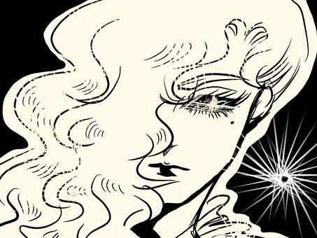 Cartoon shining girl