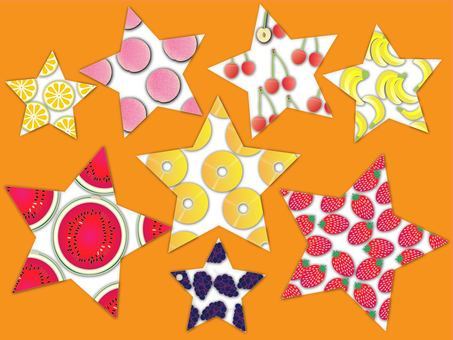 Fruit star orange background color