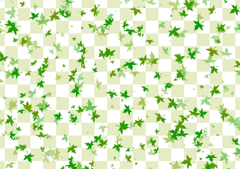 Leaf and checkerboard background 4