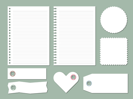 A117. Notebook / label / memo