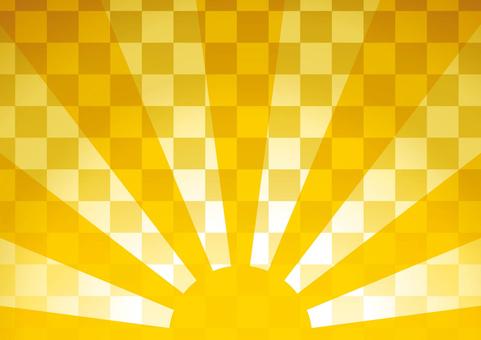 Sunrise Japanese-style background 02