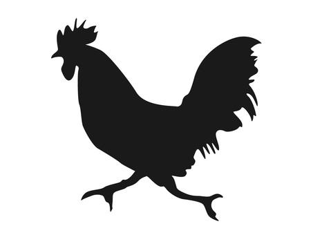 Running chicken silhouette